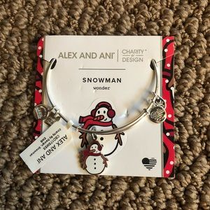 Alex And Ani Snowman Wonder Bracelet